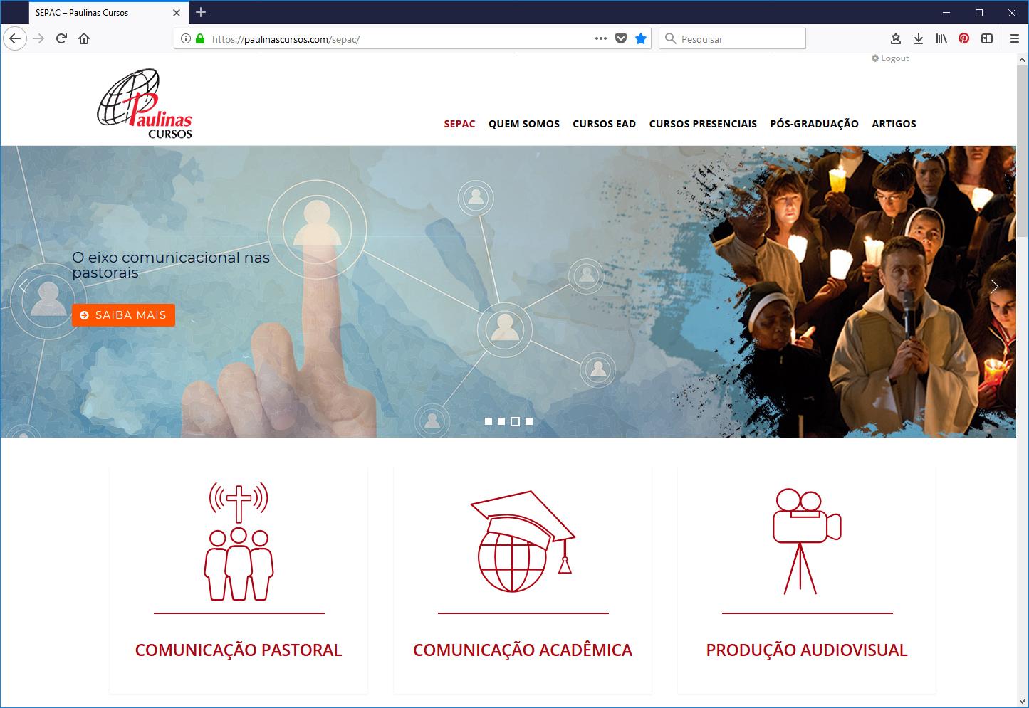 Portal Paulinas Cursos - SEPAC